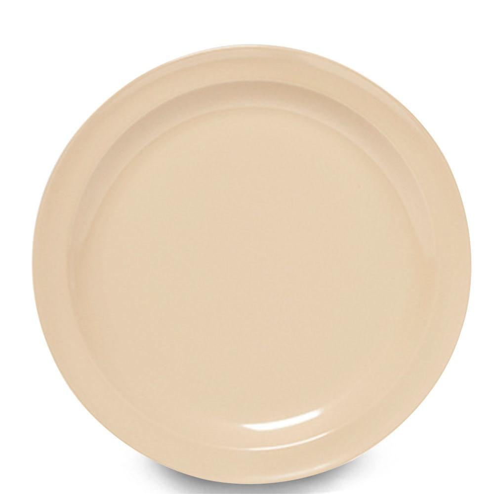 "G.E.T. Enterprises DP-509-S SuperMel Sandstone Melamine Round Plate 9"""