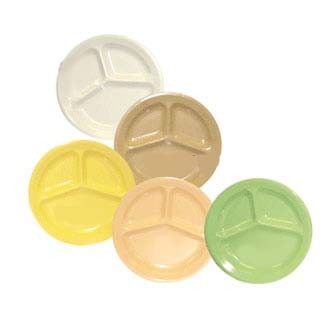 GET Supermel Tan 3-Compartment Plate - 11