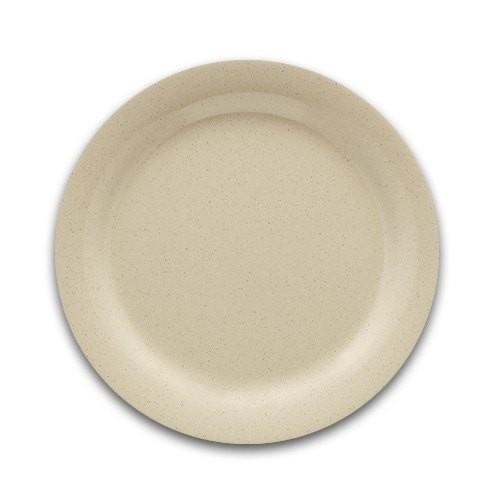 "G.E.T. Enterprises DP-509-T SuperMel Tan Melamine Round Plate 9"""