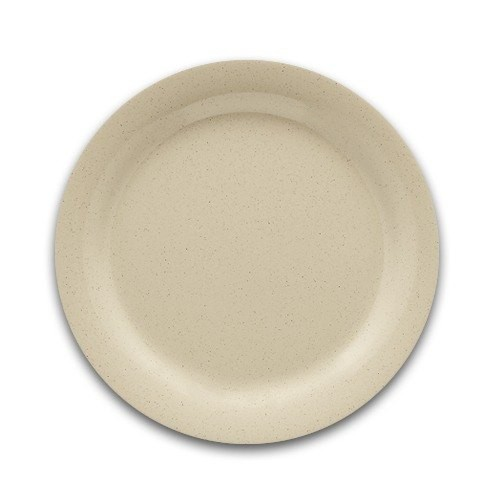 G.E.T. Enterprises DP-506-T SuperMel Tan Melamine Round Plate 6-1/2""