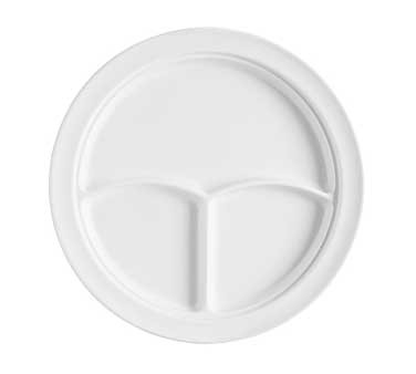 GET Supermel White 3-Compartment Deep Plate - 10