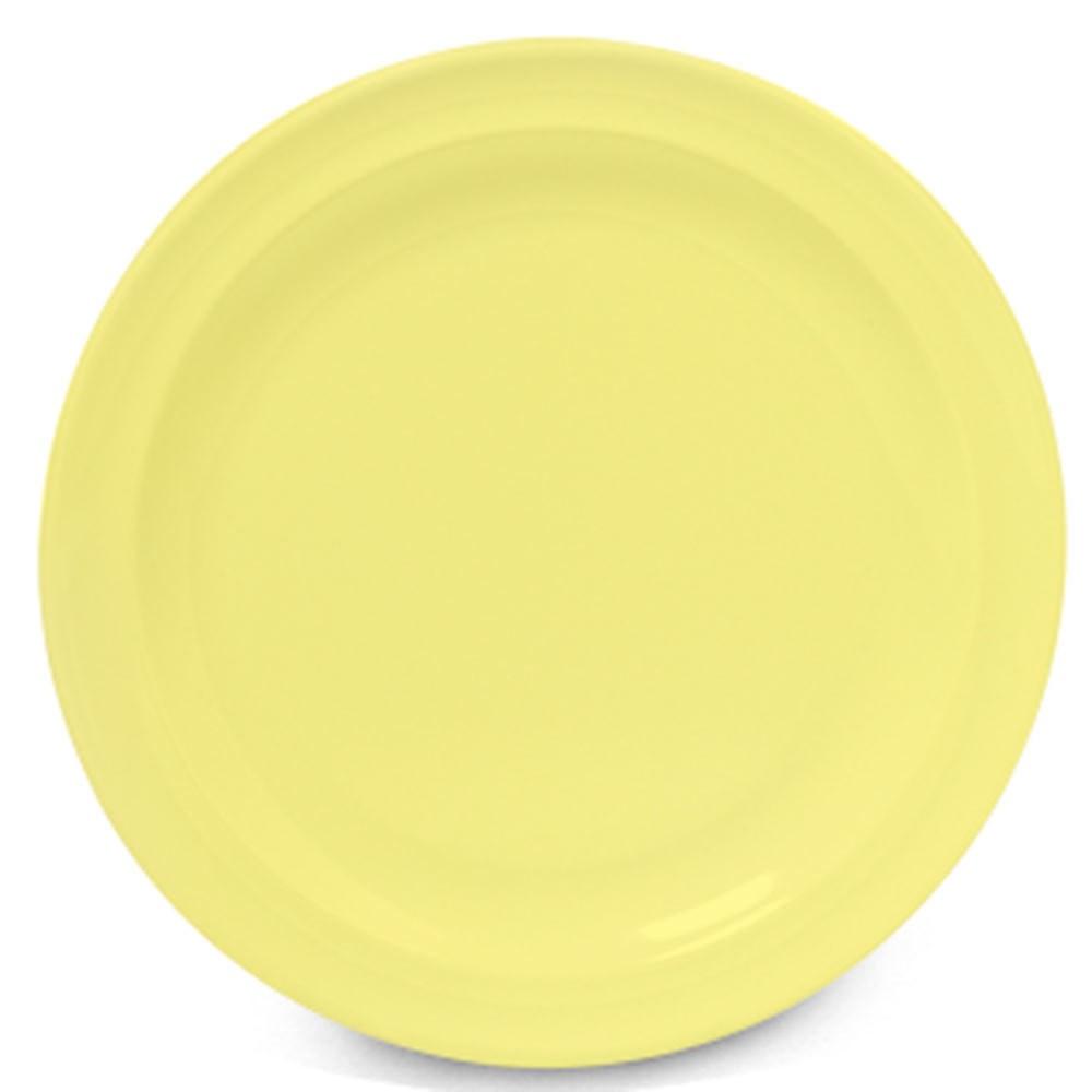 GET Supermel Yellow Melamine Dessert Plate - 7-1/4