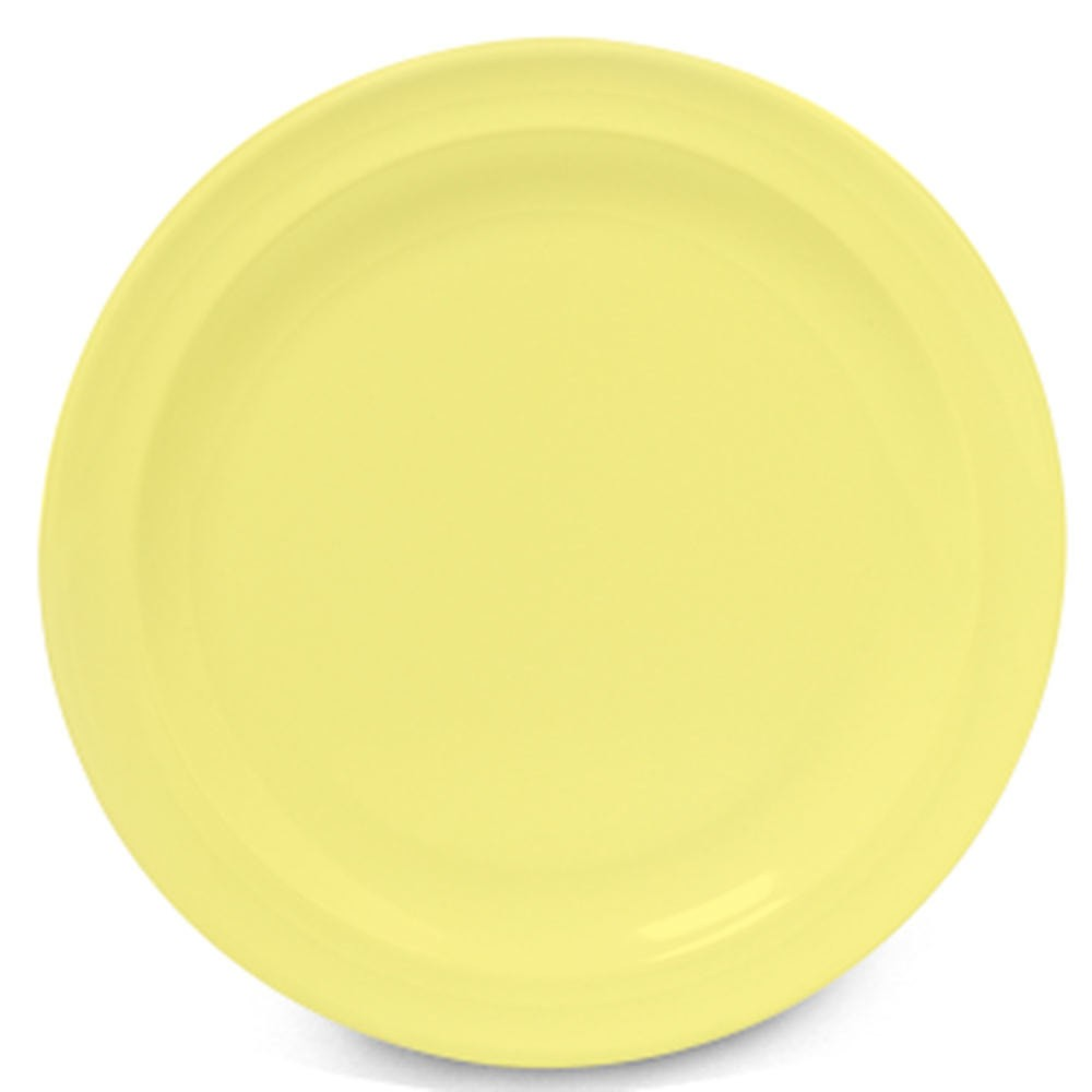 GET Supermel Yellow Melamine Lunch Plate - 8