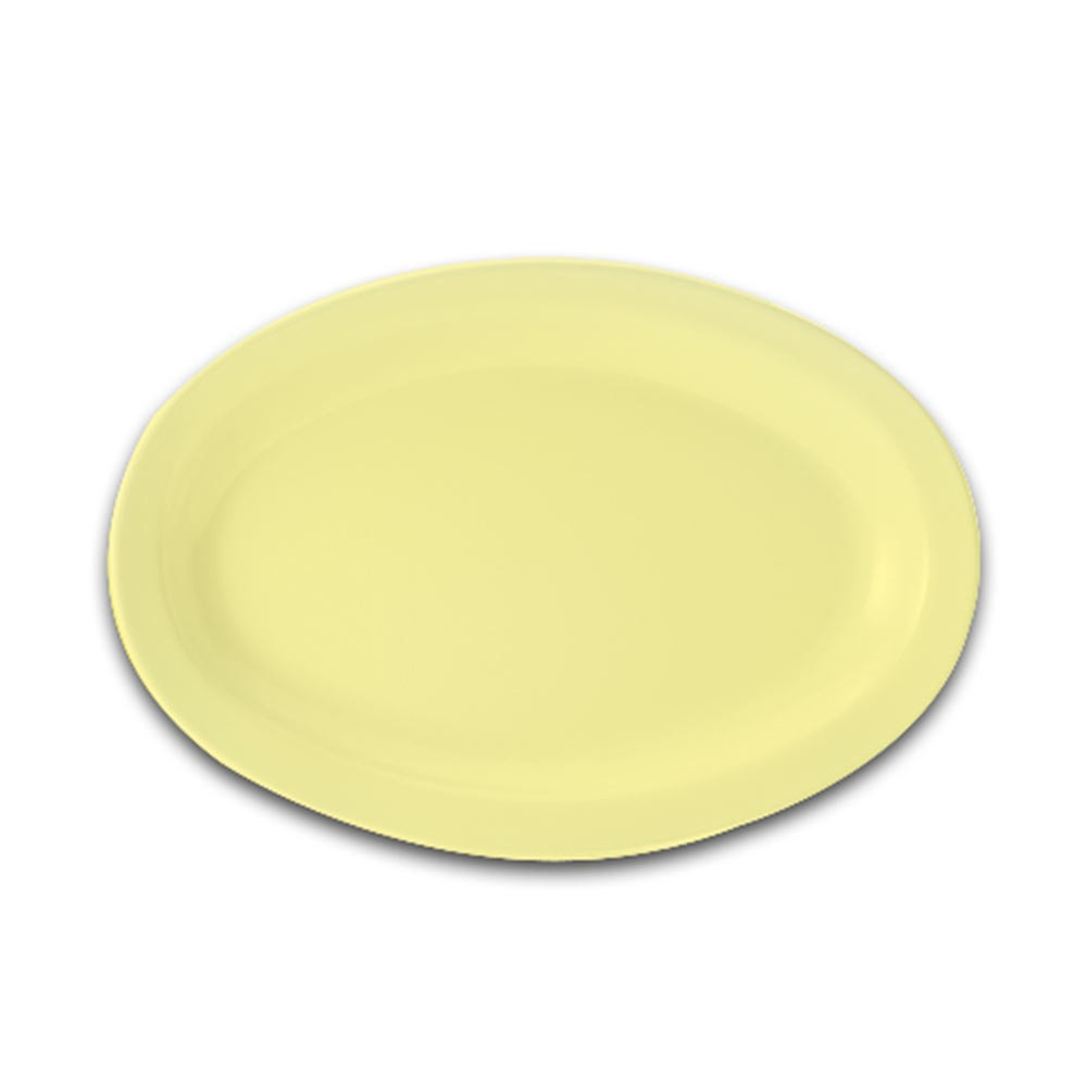 GET Supermel Yellow Melamine Oval Platter - 13-1/4
