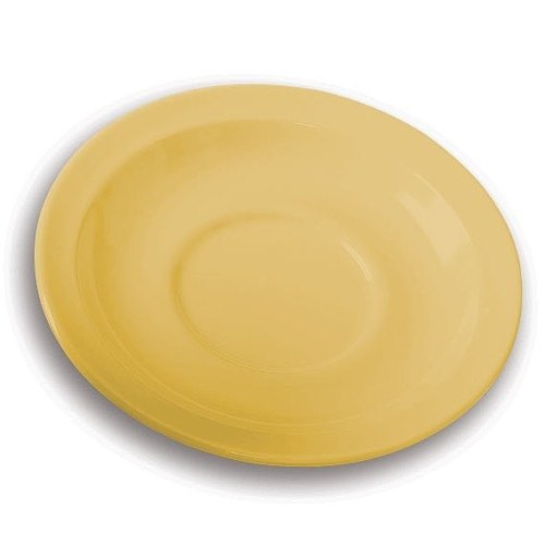 GET Supermel Yellow Saucer For DC-100/DC-101 Cups - 5-3/4