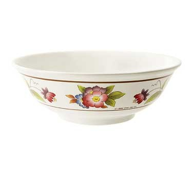 GET Tea Rose 24 Oz. Melamine Bowl - 6-1/2