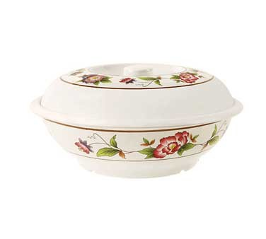 GET Tea Rose 70 Oz. Melamine Party Bowl With Lid - 10