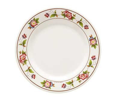 G.E.T. Enterprises KT-415-TR Tea Rose Melamine Dinner Plate 12""