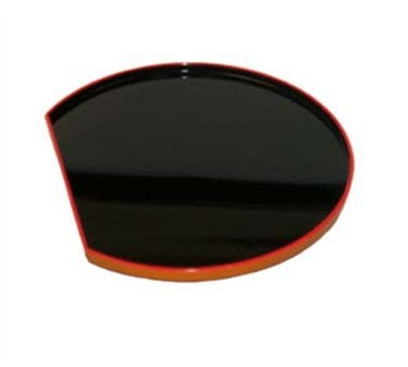GET Tokyo Japanese Black/Red ABS Plastic Round Tray - 14