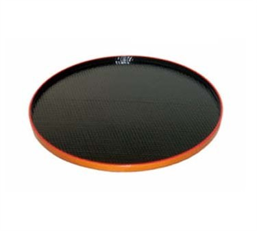 GET Tokyo Japanese Black/Red ABS Plastic Round Tray - 16