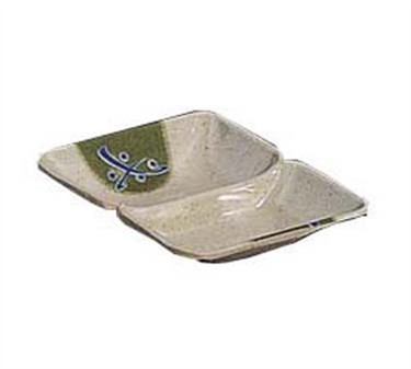 "G.E.T. Enterprises 037-TD Traditional Japanese 2-Compartment Sauce Dish, 4 "" x 3"""