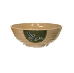 GET Traditional Japanese 40 Oz. Full Rim Melamine Bowl - 7 3/4