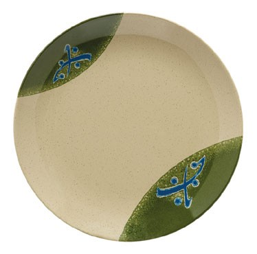 GET Traditional Japanese Round Plate - 10-1/2