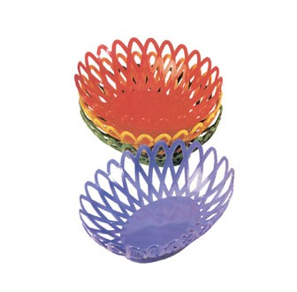 GET Tropical Yellow Polypropylene Oval Basket - 10