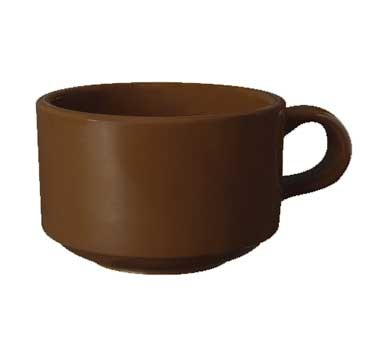 GET Ultraware Brown 10 Oz. Hard Plastic Soup Mug - 4