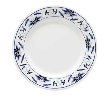 GET Water Lily Melamine Appetizer/Dessert Plate - 8