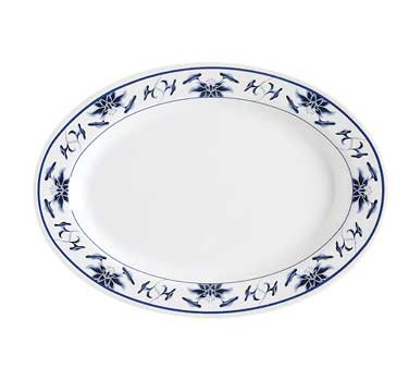 GET Water Lily Melamine Oval Platter - 12-1/4