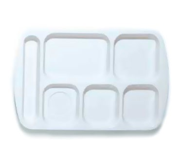 GET White 6-Section Left-Hand Melamine School Tray - 14.75