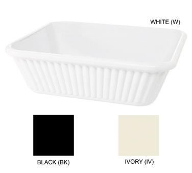 """G.E.T. Enterprises ML-177-W White Melamine 3 Qt. Casserole Dish 10"""" x 8-3/4"""""""