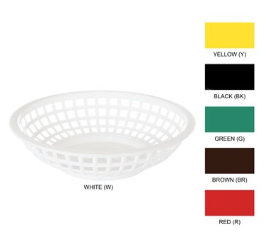 GET White Polypropylene Traditional Round Basket - 8