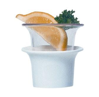 GET White SAN Plastic 2 Oz. Sauce Cup - 2-1/2