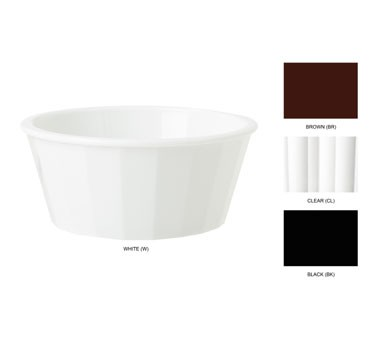 GET White SAN Plastic 2 Oz. Wide Fluted Ramekin - 2-3/4