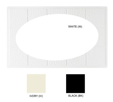 GET White Tile With 1 Oval Cut Out For ML-183/ML-184 - 21-1/2
