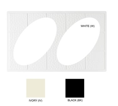 GET White Tile With 2 Oval Cut Outs For ML-182 - 21-1/2