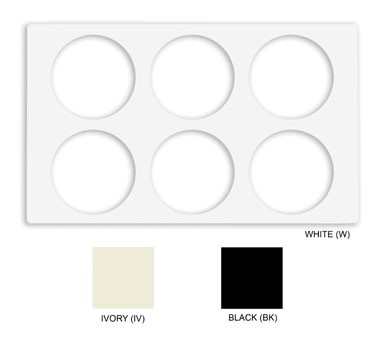 GET White Tile With 6-Cut Out For CR-0120 Round Crocks - 21-1/2