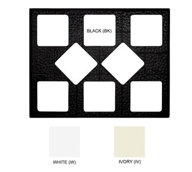 GET White Tile With 8 Cut-Outs For ML-149150 Square Crocks - 27