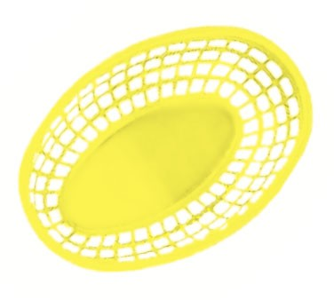 GET Yellow Polypropylene Oval Basket - 9-3/8