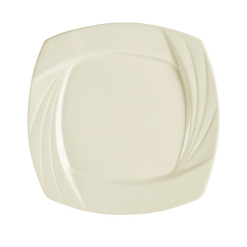 CAC China GAD-SQ16 Garden State Square Plate 10 1/2""