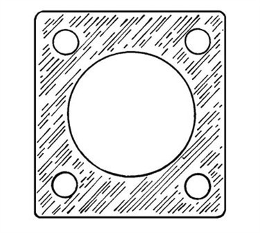 Franklin Machine Products  144-1055 Gasket, Element (2-1/2X2-1/2 )