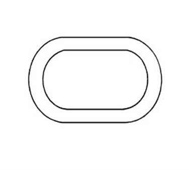 Franklin Machine Products  165-1018 Gasket, Hand Hole (Flat )