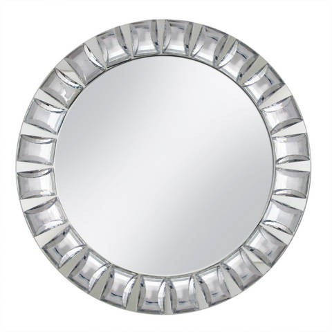 "Jay Companies 1330038 Mirror Glass 13"" Charger Plate with Big Beads"