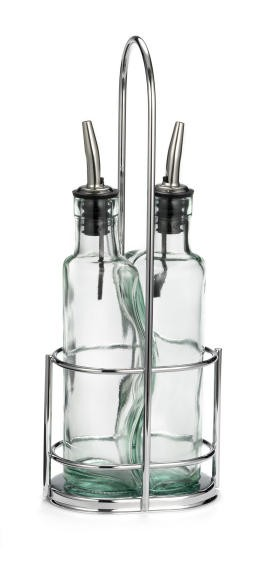 Gemelli Olive Oil Set With Two 8.5 Oz.Bottles/Chrome Rack