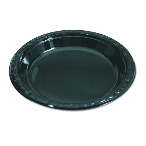 Gen-Pak Corp. Silhouette Black Plastic Plates, 9 Inches, Round, 125/Pack (Box of 500)