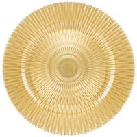 "Jay Import 1470355 Genesis Gold Glass 13"" Charger Plate"