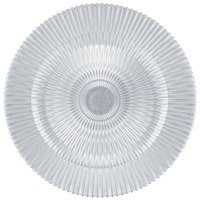 "Jay Import 1470356 Genesis Silver Glass 13"" Charger Plate"