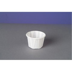 Genpak Paper Portion Cups, 1 oz., White, 250/Bag (Box of 20)
