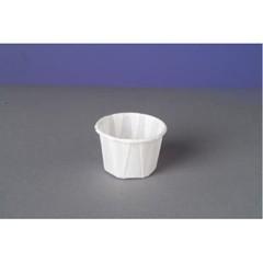 Genpak Paper Portion Cups, 1 oz., White, 250/Bag (Box of 20)