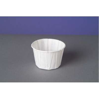 Genpak Paper Portion Cups, 2 oz., White, 250/Bag (Box of 20)