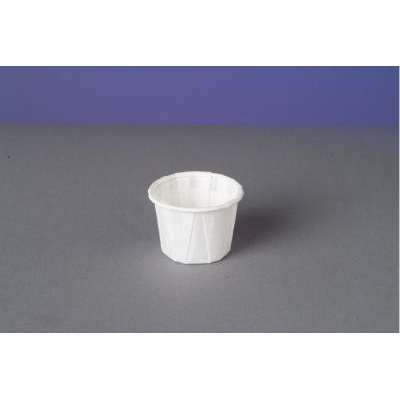 Genpak Paper Portion Cups, 3/4 oz., White, 250/Bag (Box of 20)