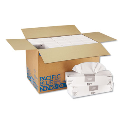 """Georgia Pacific AccuWipe Recycled 1-Ply Delicate Task Wipers, White, 16-7/10"""" x 15""""140/Carton"""