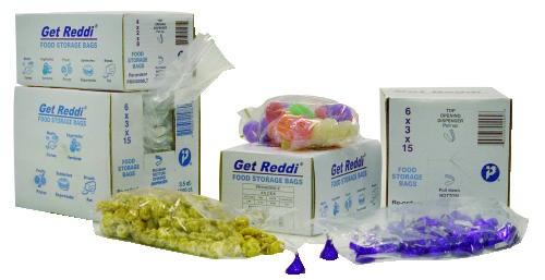 Get Reddi Food & Poly Bag, 12 x 8 x 30, 24-Quart, 1.00 Mil, Clear, 500/Case