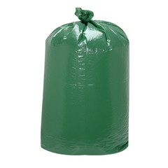 Giant Green Low-Density Can Liners, 60gal, 38w x 58h, Light Green