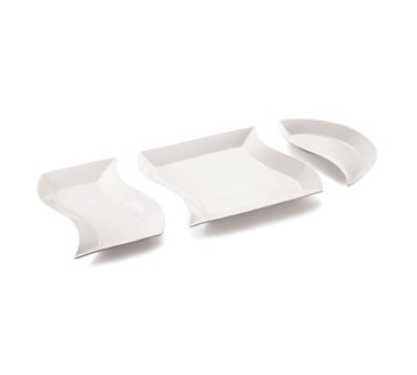 Glacier Collection Curved Square Porcelain Platter - 18
