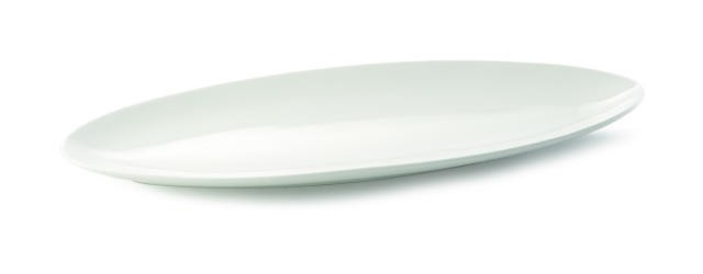 "TableCraft P248 Glacier Collection Oval Porcelain Platter, 24"" x 8-1/2"""