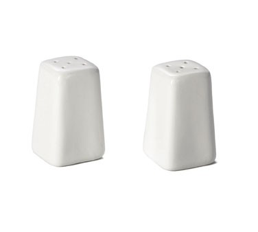Glacier Collection Porcelain 2 Oz. Square Salt/Pepper Shaker Set