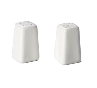 TableCraft 168 Glacier Collection 2 oz. Square Salt/Pepper Shaker Set